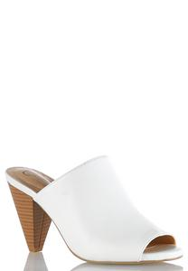 Peep Toe Heeled Mules