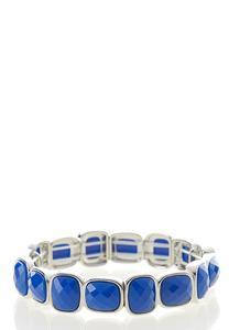 Square Stone Stretch Bracelet
