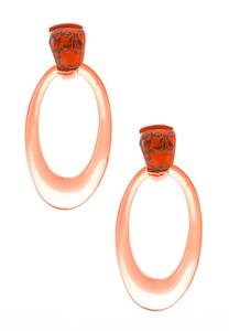 Oval Color Lucite Earrings
