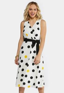 Plus Size Playful Polka Dot Midi Dress