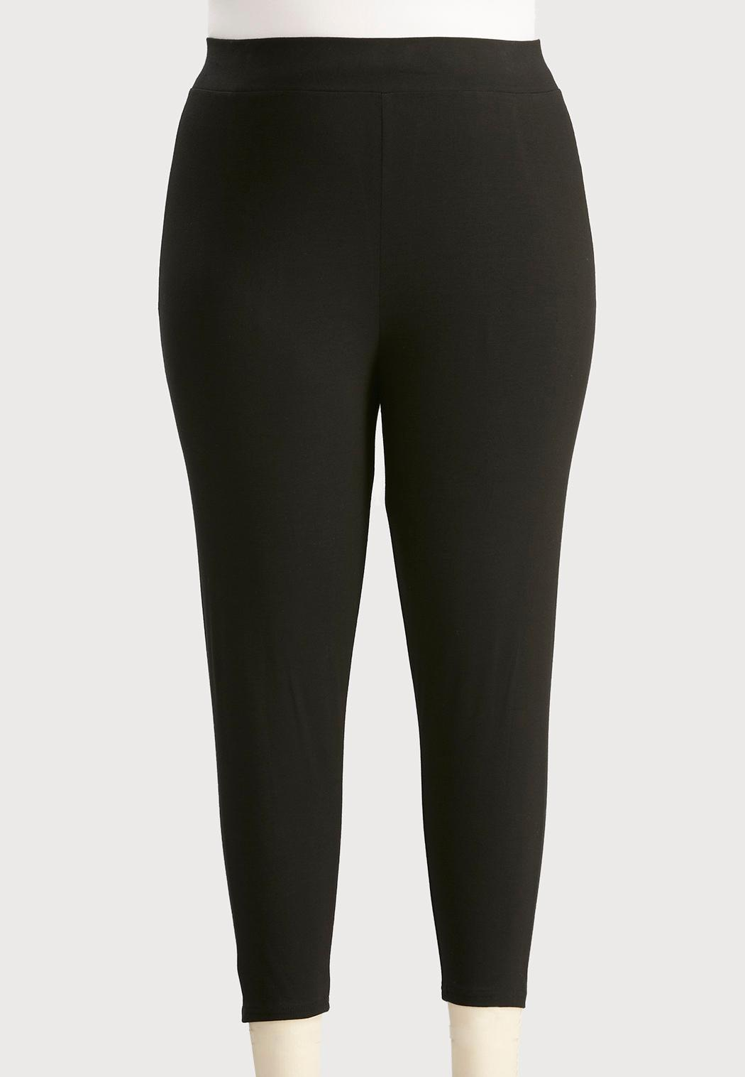 424dbbec7ce4d Plus Size Essential Capri Leggings Leggings Cato Fashions