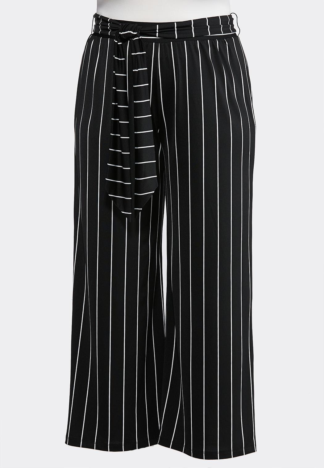 207da8c32e113 Plus Petite Stripe Belted Palazzo Pants Petite Pants Cato Fashions