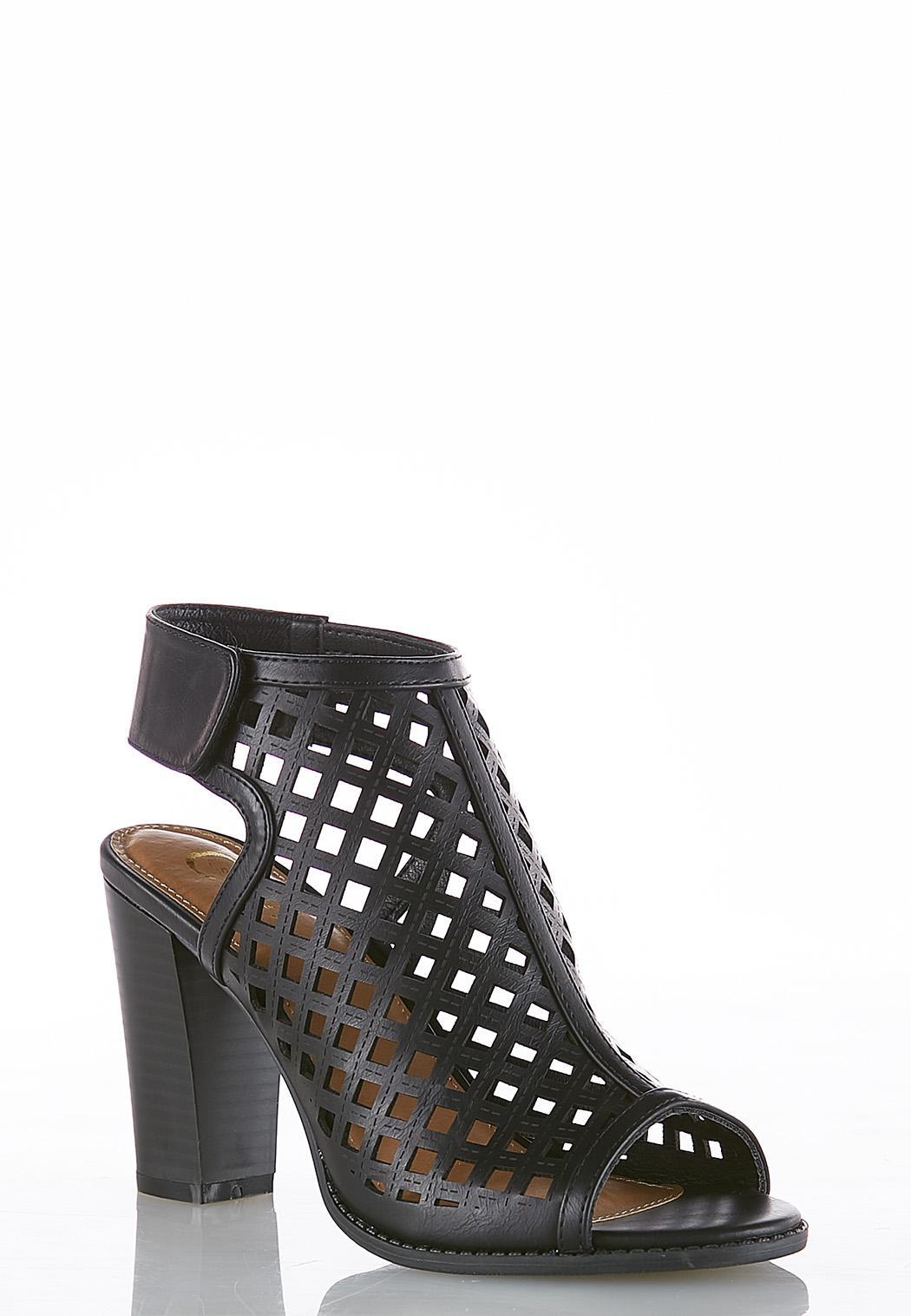 c489e516e94 Cutout Block Heel Shooties Ankle   Shooties Cato Fashions