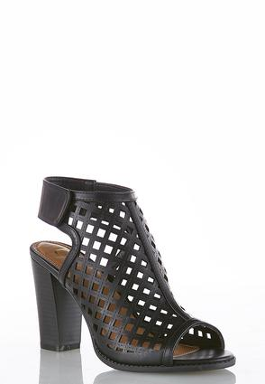 Cutout Block Heel Shooties