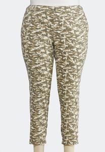 Plus Size Camo Ankle Jeans