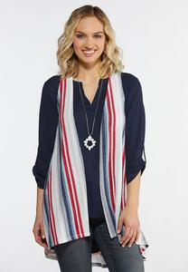 Striped Hacci Vest