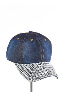 Bedazzled Denim Baseball Cap