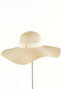 Neutral Straw Floppy Hat