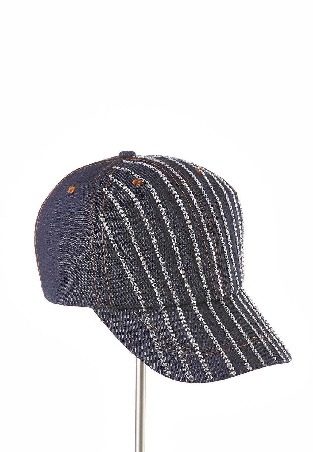 832d6b8b7b481 Rhinestone Denim Hat Hats   Hair Cato Fashions