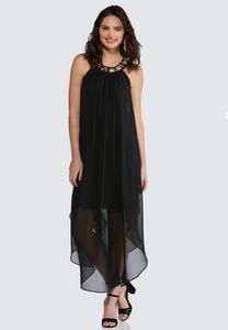 Plus Size Embellished Flyaway Dress