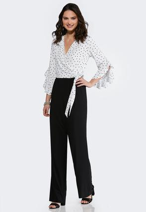 Dots And Ties Jumpsuit
