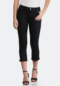 Cropped Black Jeans