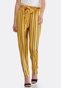 Petite Gold Stripe Pants