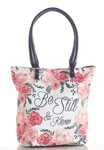Be Still Canvas Tote