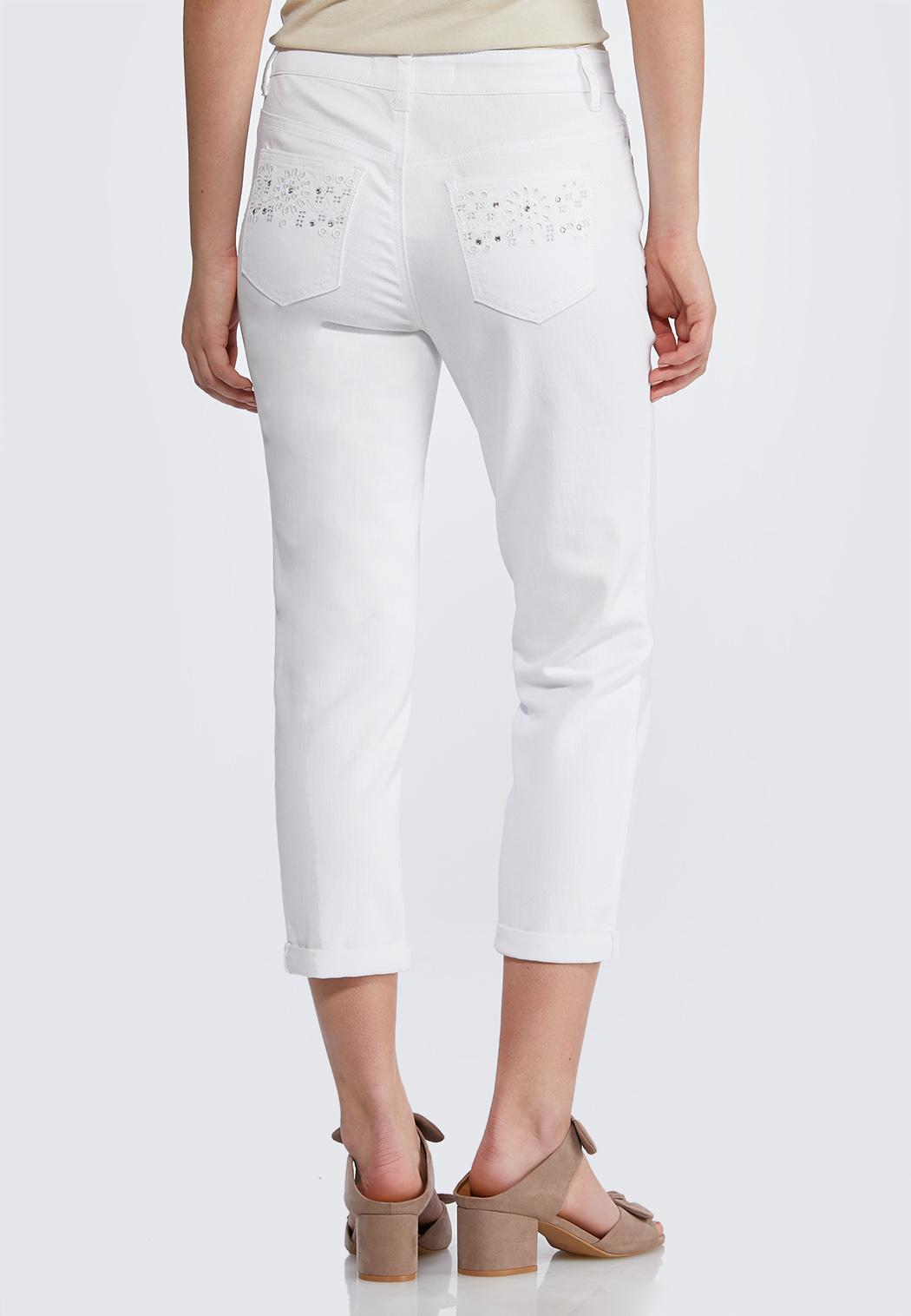 Cropped Embellished Jeans