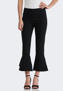 Ruffle Hem Pull-On Pants