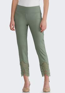 Crochet Hem Pull-On Pants