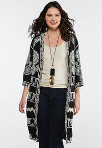 8eb5f64eeed44 Plus Size Embroidered Duster Kimono