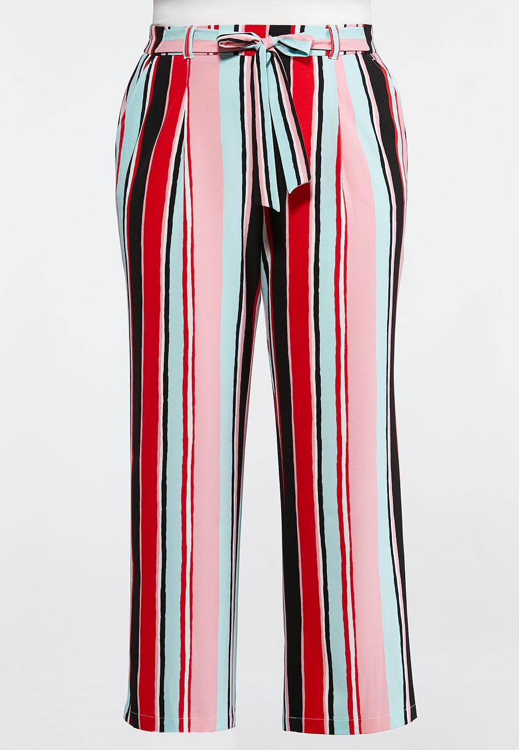 23b608c36233a9 Plus Size Pastel Stripe Palazzo Pants Pants Cato Fashions