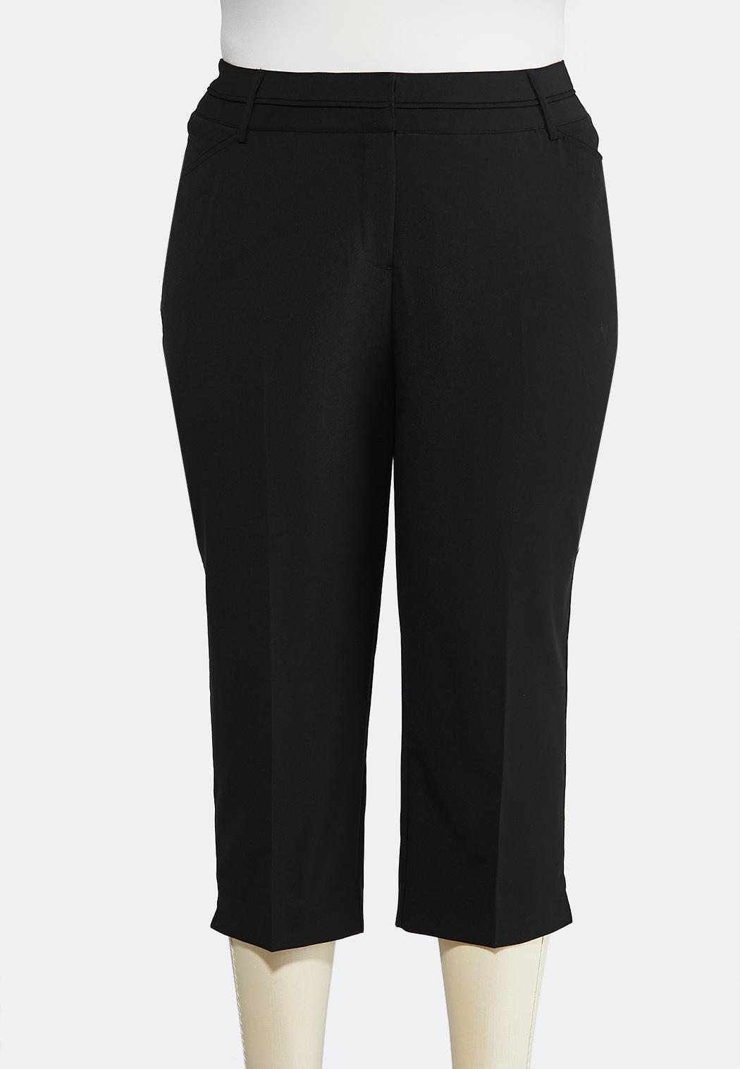 Plus Size Cropped Trouser Pants