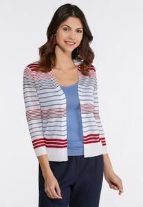 Plus Size Americana Cardigan Sweater