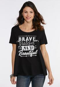 Plus Size Brave Beautiful Tee