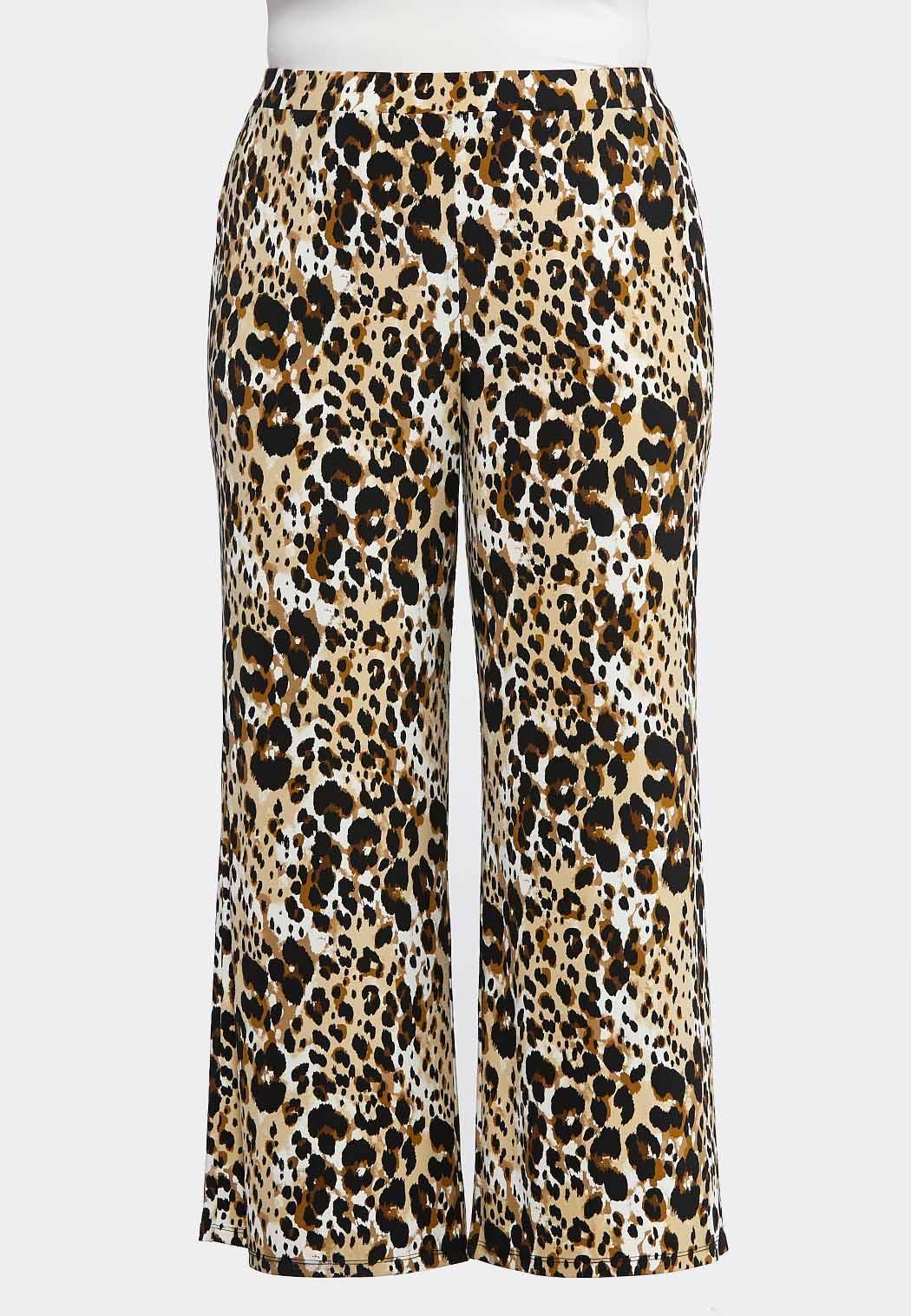 99001e3a03db99 Plus Size Breezy Leopard Palazzo Pants Pants Cato Fashions