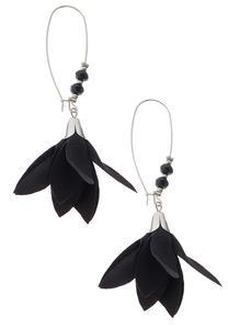 Fabric Flower Wire Earrings