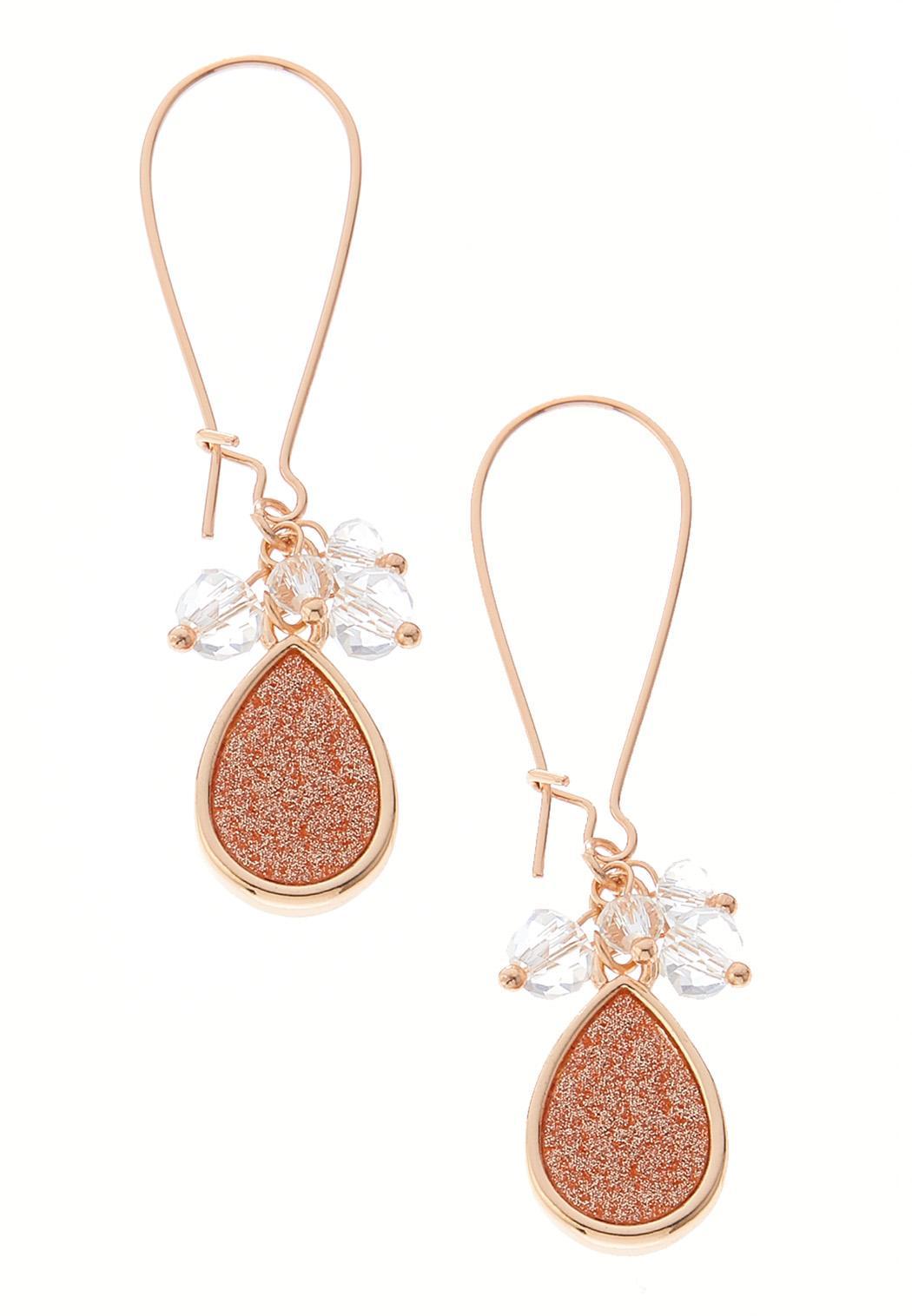 Glitter Tear Wire Earrings