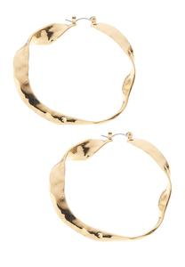 Wavy Metal Hoop Earrings