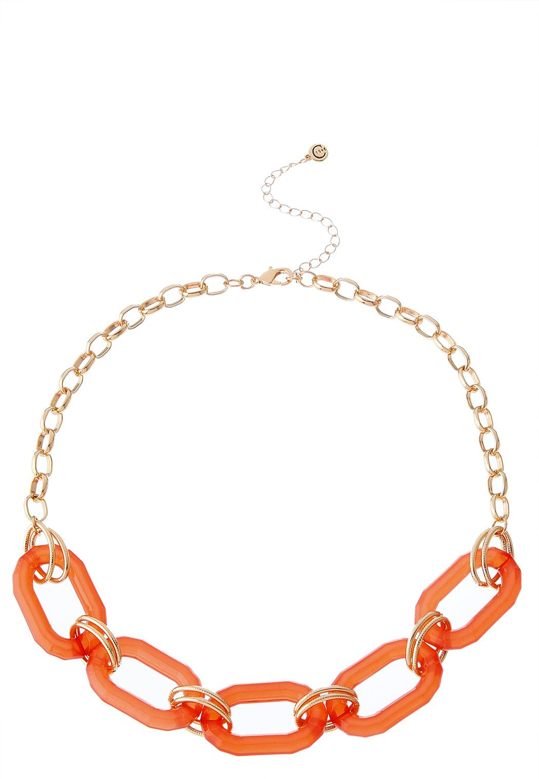 Lucite Links Chain Necklace