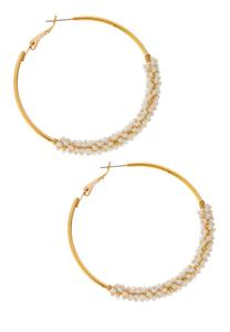 Seed Bead Wrap Hoop Earrings