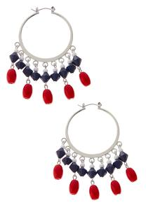 Shaky Bead Hoop Earrings