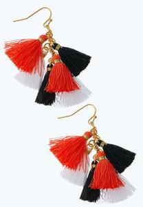 Cluster Tassel Earrings