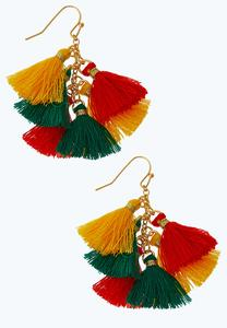 Cluster Tassel Earrings