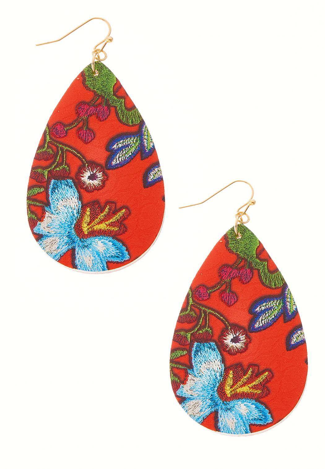 Faux Leather Patterned Earrings