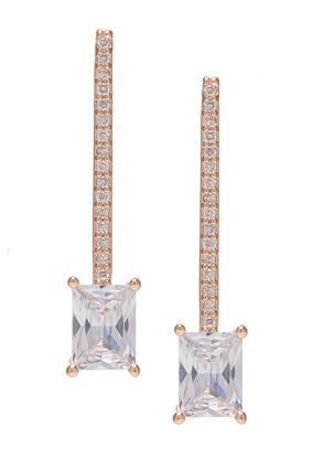 Cubic Zirconia Rose Gold Earrings