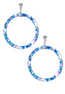 Confetti Lucite Hoop Earrings