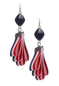 Tiered Ribbon Dangle Earrings