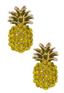 Pineapple Stone Button Earrings