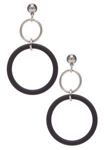Color Hoop Dangle Earrings