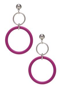 Color Hoop Dangle Earrings
