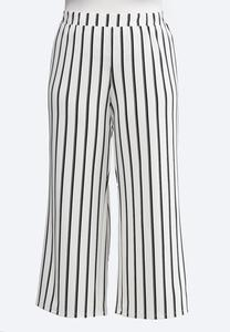 Plus Petite Striped Palazzo Pants