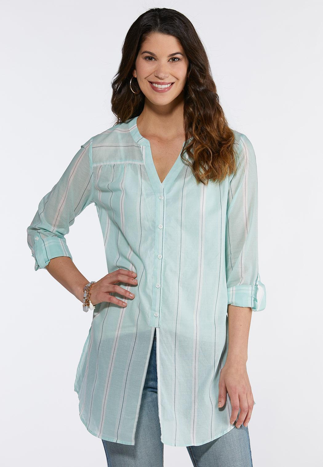 Mint Stripe Shirt
