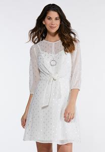 Chiffon Tie Front Dress