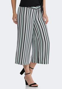 Cropped Stripe Pants