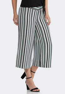 Cropped Stripe Pants