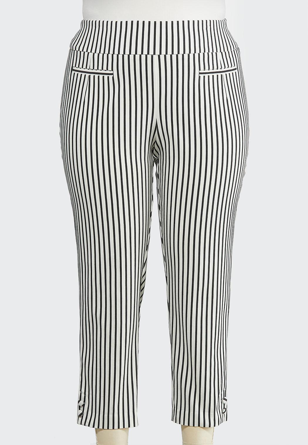 dac1db7484c Plus Size Stripe Bengaline Pants Ankle Pants Cato Fashions