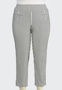 Plus Size Stripe Bengaline Pants