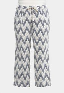 Plus Size Printed Linen Pants